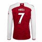 2020-2021 Arsenal Adidas Home Long Sleeve Shirt (PIRES 7)