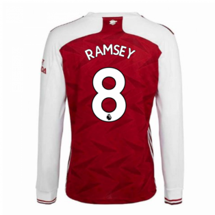 2020-2021 Arsenal Adidas Home Long Sleeve Shirt (RAMSEY 8)