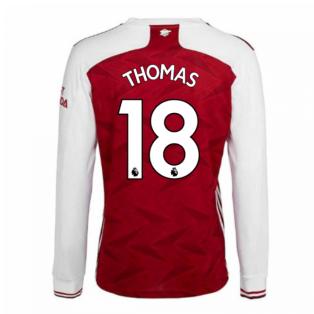 2020-2021 Arsenal Adidas Home Long Sleeve Shirt (THOMAS 18)