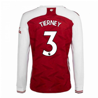 2020-2021 Arsenal Adidas Home Long Sleeve Shirt (TIERNEY 3)