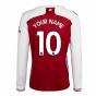 2020-2021 Arsenal Adidas Home Long Sleeve Shirt (Your Name)