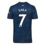 2020-2021 Arsenal Adidas Third Football Shirt (Kids) (SAKA 7)