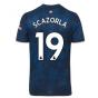2020-2021 Arsenal Adidas Third Football Shirt (Kids) (S.CAZORLA 19)