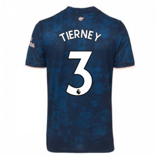 2020-2021 Arsenal Adidas Third Football Shirt (Kids) (TIERNEY 3)
