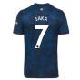 2020-2021 Arsenal Adidas Third Football Shirt (SAKA 7)