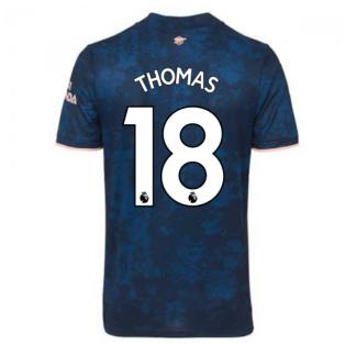 2020-2021 Arsenal Adidas Third Football Shirt (THOMAS 18)
