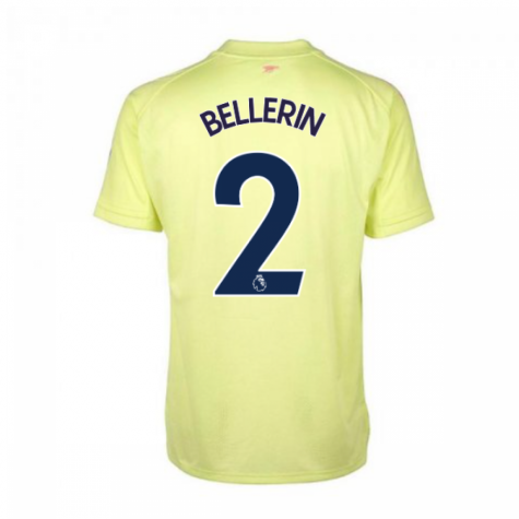2020-2021 Arsenal Adidas Training Shirt (Yellow) (BELLERIN 2)