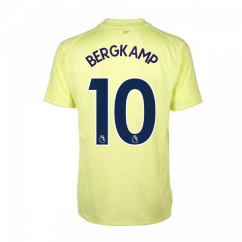 2020-2021 Arsenal Adidas Training Shirt (Yellow) (BERGKAMP 10)