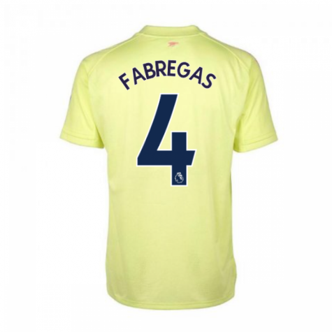 2020-2021 Arsenal Adidas Training Shirt (Yellow) (FABREGAS 4)