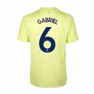2020-2021 Arsenal Adidas Training Shirt (Yellow) (Gabriel 6)