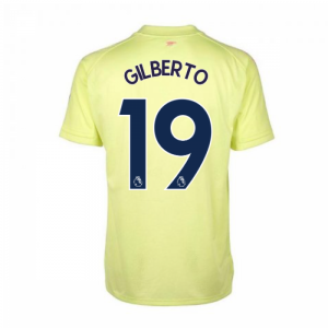 2020-2021 Arsenal Adidas Training Shirt (Yellow) (GILBERTO 19)