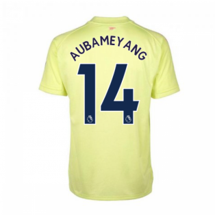 2020-2021 Arsenal Adidas Training Shirt (Yellow) - Kids (AUBAMEYANG 14)