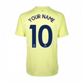 2020-2021 Arsenal Adidas Training Shirt (Yellow) - Kids (Your Name)
