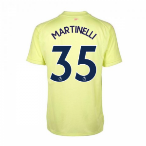 2020-2021 Arsenal Adidas Training Shirt (Yellow) (MARTINELLI 35)