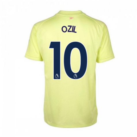 2020-2021 Arsenal Adidas Training Shirt (Yellow) (OZIL 10)