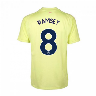 2020-2021 Arsenal Adidas Training Shirt (Yellow) (RAMSEY 8)