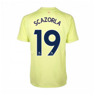 2020-2021 Arsenal Adidas Training Shirt (Yellow) (S.CAZORLA 19)