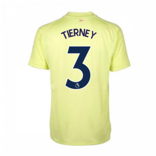 2020-2021 Arsenal Adidas Training Shirt (Yellow) (TIERNEY 3)