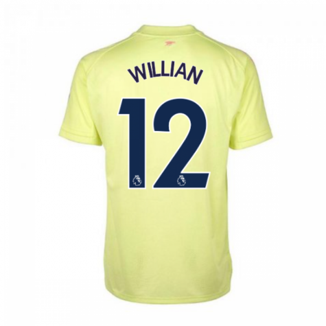 2020-2021 Arsenal Adidas Training Shirt (Yellow) (WILLIAN 12)