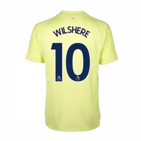 2020-2021 Arsenal Adidas Training Shirt (Yellow) (WILSHERE 10)