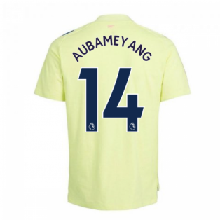 2020-2021 Arsenal Adidas Training Tee (Yellow) - Kids (AUBAMEYANG 14)