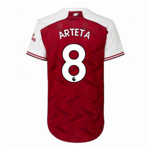 2020-2021 Arsenal Adidas Womens Home Shirt (ARTETA 8)