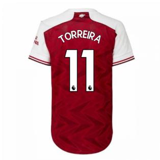 2020-2021 Arsenal Adidas Womens Home Shirt (TORREIRA 11)
