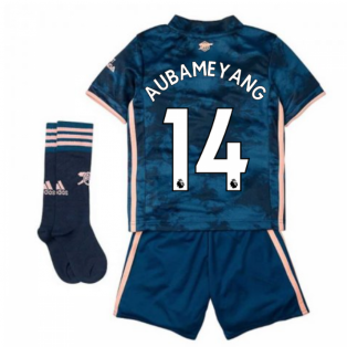 2020-2021 Arsenal Third Little Boys Mini Kit (AUBAMEYANG 14)