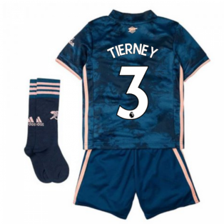 2020-2021 Arsenal Third Little Boys Mini Kit (TIERNEY 3)
