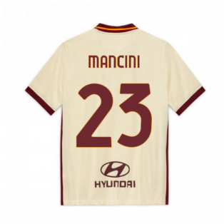 2020-2021 AS Roma Away Nike Football Shirt (Kids) (MANCINI 23)
