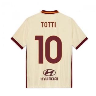 2020-2021 AS Roma Away Nike Football Shirt (Kids) (TOTTI 10)