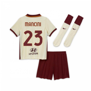 2020-2021 AS Roma Away Nike Little Boys Mini Kit (MANCINI 23)