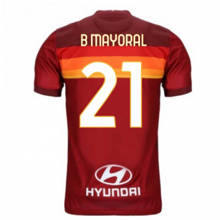 2020-2021 AS Roma Home Nike Football Shirt (B MAYORAL 21)