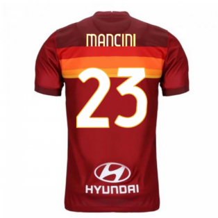 2020-2021 AS Roma Home Nike Football Shirt (Kids) (MANCINI 23)