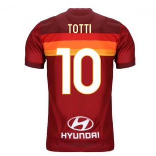 2020-2021 AS Roma Home Nike Football Shirt (Kids) (TOTTI 10)