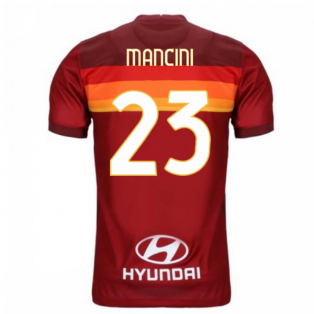 2020-2021 AS Roma Home Nike Football Shirt (MANCINI 23)
