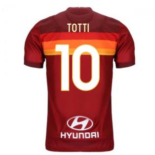 2020-2021 AS Roma Home Nike Football Shirt (TOTTI 10)