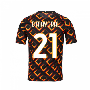 2020-2021 AS Roma Nike Pre-Match Training Jersey (Black) (B MAYORAL 21)