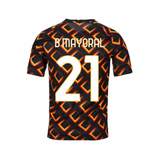 2020-2021 AS Roma Nike Pre-Match Training Jersey (Black) - Kid (B MAYORAL 21)