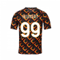 2020-2021 AS Roma Nike Pre-Match Training Jersey (Black) - Kid (KLUIVERT 99)