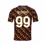 2020-2021 AS Roma Nike Pre-Match Training Jersey (Black) (KLUIVERT 99)