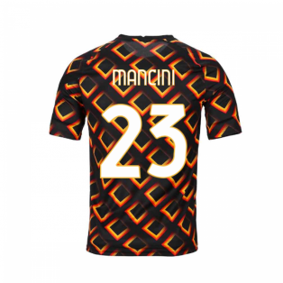 2020-2021 AS Roma Nike Pre-Match Training Jersey (Black) (MANCINI 23)