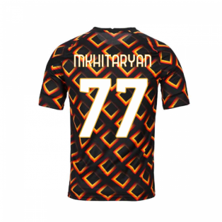 2020-2021 AS Roma Nike Pre-Match Training Jersey (Black) (MKHITARYAN 77)