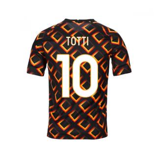 2020-2021 AS Roma Nike Pre-Match Training Jersey (Black) (TOTTI 10)