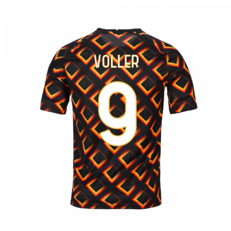 2020-2021 AS Roma Nike Pre-Match Training Jersey (Black) (VOLLER 9)
