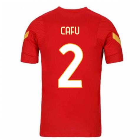 2020-2021 AS Roma Nike Training Shirt (Red) (CAFU 2)