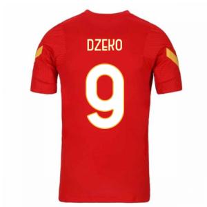 2020-2021 AS Roma Nike Training Shirt (Red) (DZEKO 9)