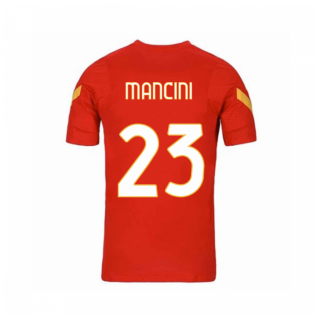 2020-2021 AS Roma Nike Training Shirt (Red) - Kids (MANCINI 23)