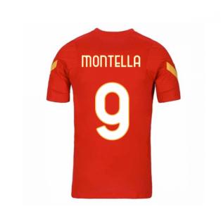 2020-2021 AS Roma Nike Training Shirt (Red) - Kids (MONTELLA 9)