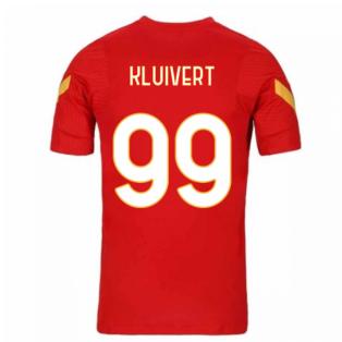2020-2021 AS Roma Nike Training Shirt (Red) (KLUIVERT 99)